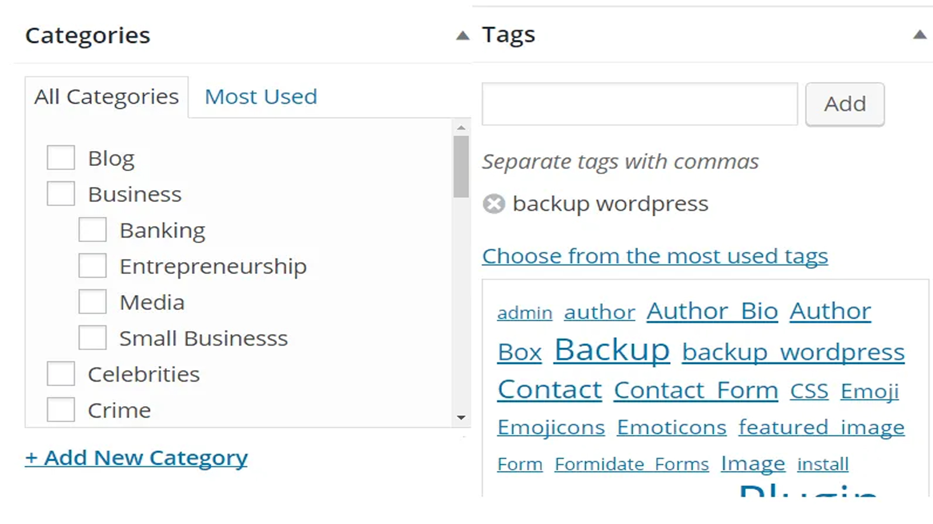 Category and Tags
