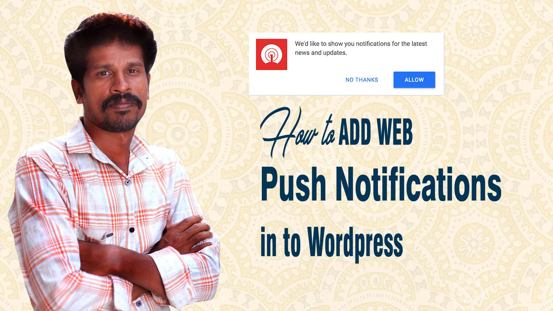 How To Add Web Push Notifications To Your WordPress Website in Tamil copy